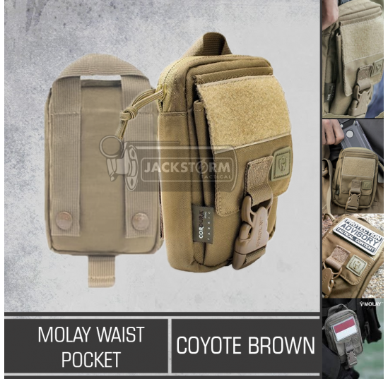 Molay Waist Pocket Coyote Brown