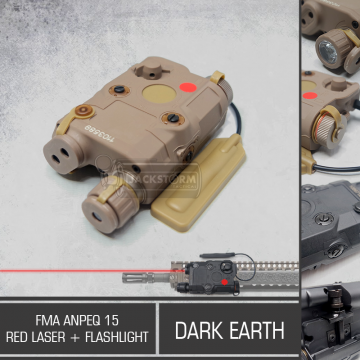 FMA Anpeq 15 Red Laser + Flashlight