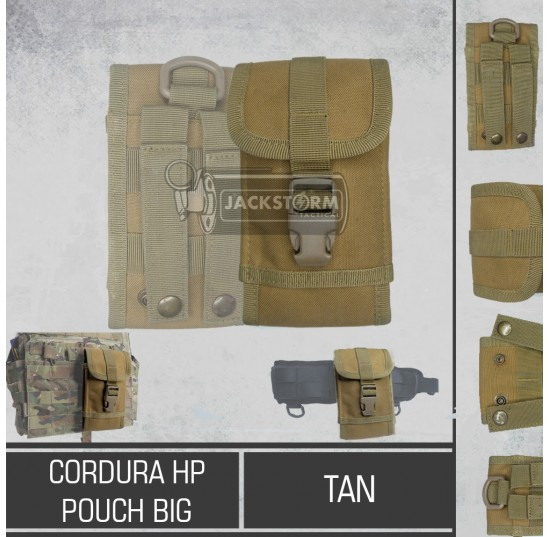 Cordura HP Pouch Buckle (Big) Tan