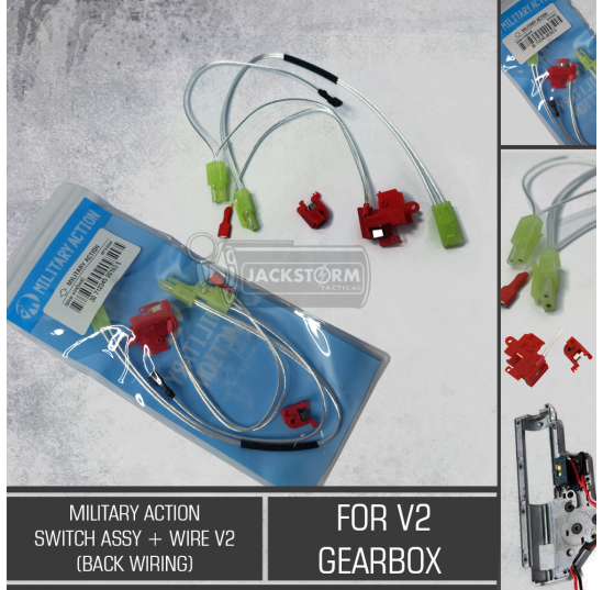 Military Action Switch Assy + Wire V2 (Back Wiring)
